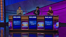 [Jeopardy! 2019 Teen Tournament - Image of the day two final results]