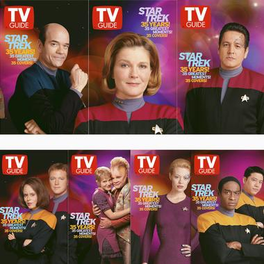 TV Guide 35th Anniversary covers: ST:VOY